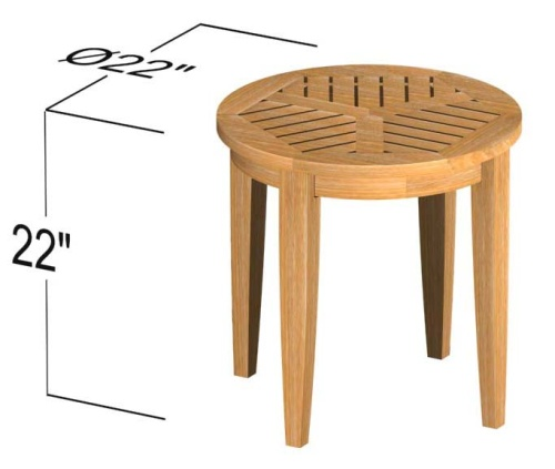 small round end tables