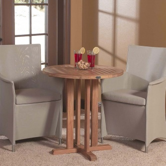 Sets Containing Westminster Teak 30 Inch Round Bistro Table   Comm    Westminster Teak Outdoor Furniture