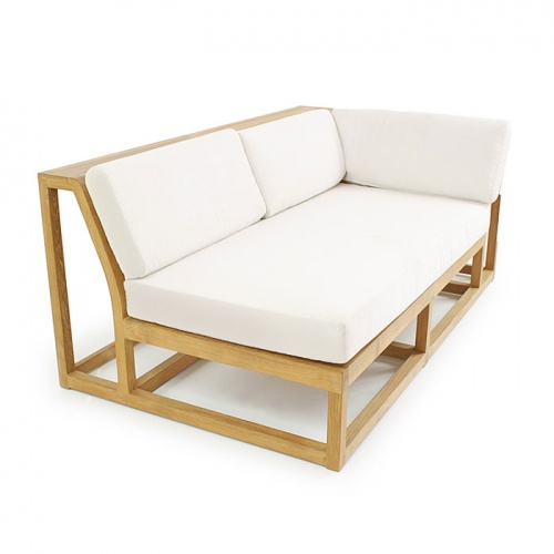 Maya Teak Outdoor Sectional Set - Picture D
