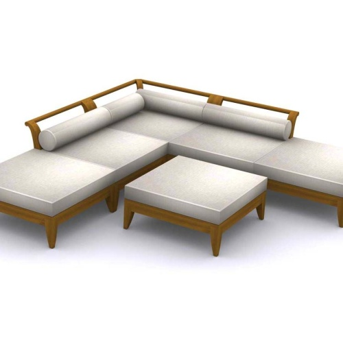 Aman Dais Teak Outdoor Daybed - Picture K