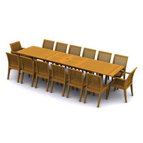 Laguna Premium Grade 'A' Teak Furniture Set for 15 - Picture A
