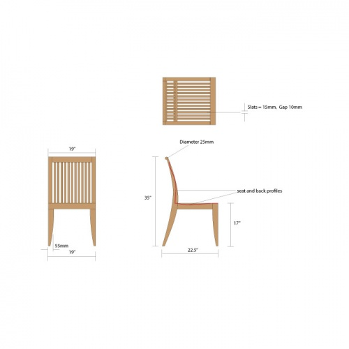 Laguna Premium Grade 'A' Teak Furniture Set for 15 - Picture E