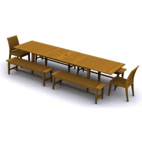 Laguna Premium Grade 'A' Teak Furniture Set for 12 - Picture A