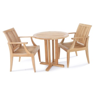 3 pc Laguna Teak Bistro Set