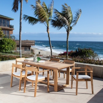 7 pc Horizon Teak Dining Set