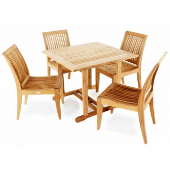 5pc Laguna Square Teak Dining Set