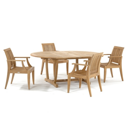 outdoor teak round extendable dining tables
