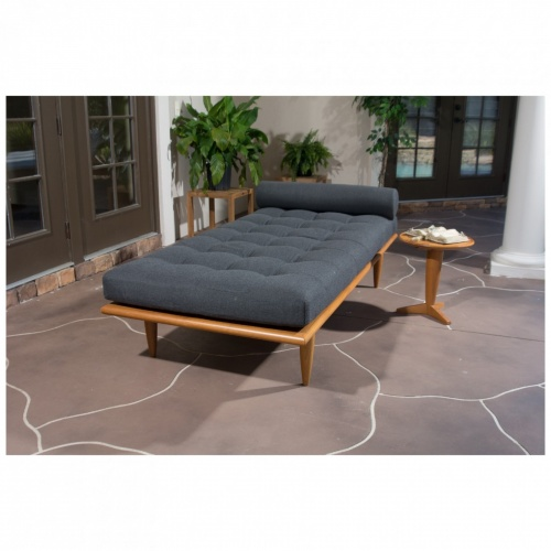 Saloma Premium Teak Daybed and Sidetable - Picture A