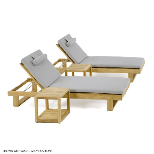 teak chaises for pool