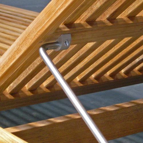 teak deck chaise loungers