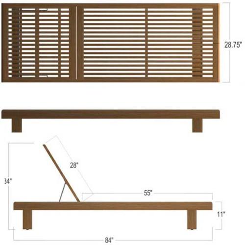 Horizon Double Chaise Lounger Set - Picture K