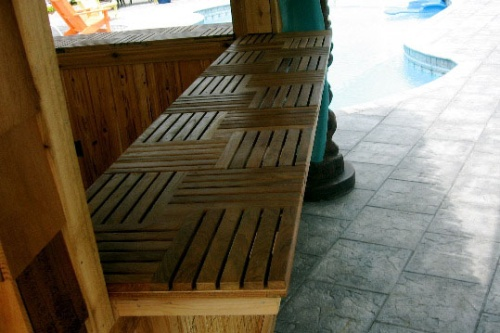 square teakwood floor tiles