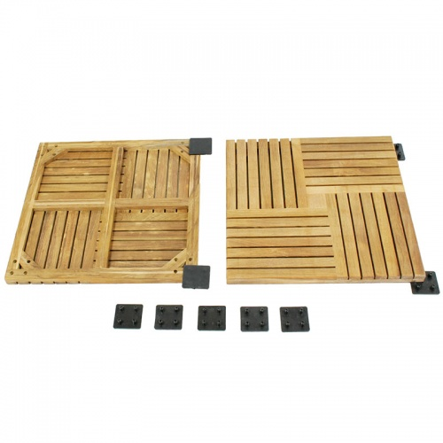 interlocking teak tiles
