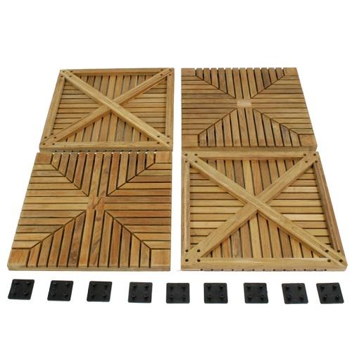 teak floor tiles