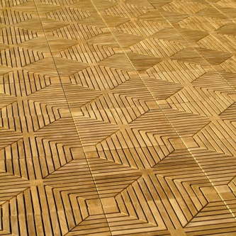 5 Cartons Diamond Teak Floor Tiles