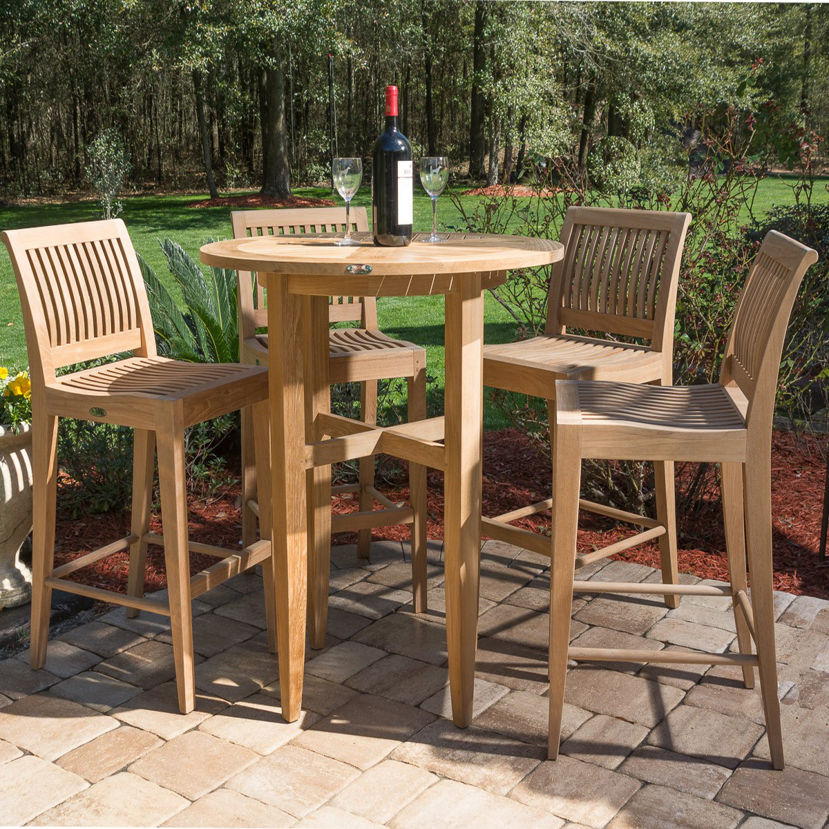 Laguna Teak Bar Stool And Table Set Westminster Teak