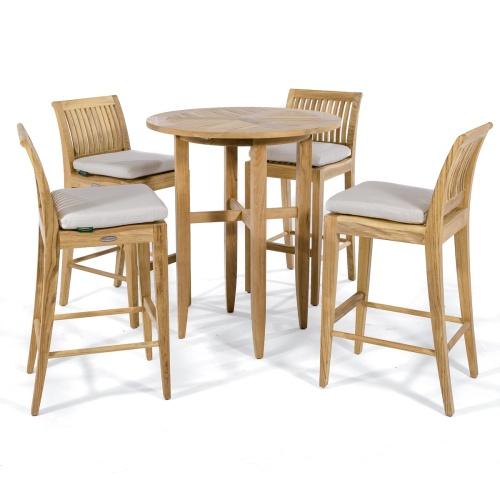 bar height teak tables