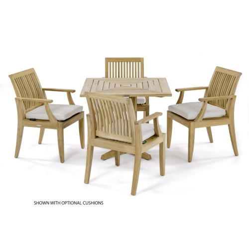 5 pc Laguna Pyramid Teak Dining Set - Picture B