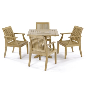 5pc Laguna Pyramid Teak Set