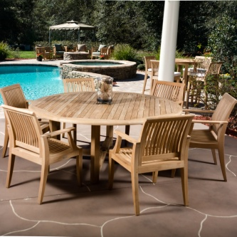 7 pc Buckingham Laguna Teak Dining Set