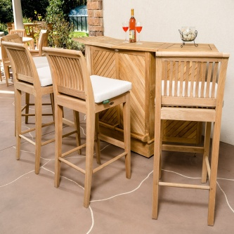 Somerset 5pc Laguna Teak High Bar Set