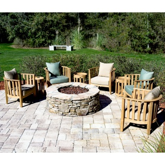 9 pc Kafelonia Fire Pit Seating Set