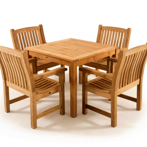Square Teak Table and 4 Chairs - Picture K