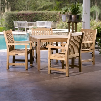 Veranda 5pc Square Teak Dining Set