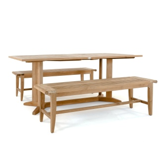 Pyramid Bench Teak Dining Set