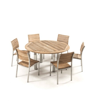 Vogue 7pc Round Dining Set