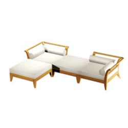 Teak Patio Daybed Set - Picture A