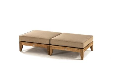 teak ottomans and cushions
