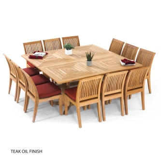 Pyramid 14 pc Teak Dining Set