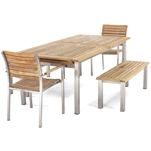 teak rectangular extending dining tables