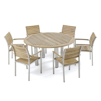 7 PC Vogue Teak Dining Set