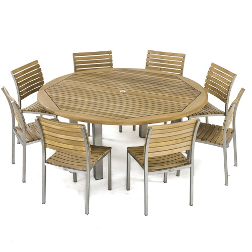 Vogue Teak Dining Set for 8 - Picture C