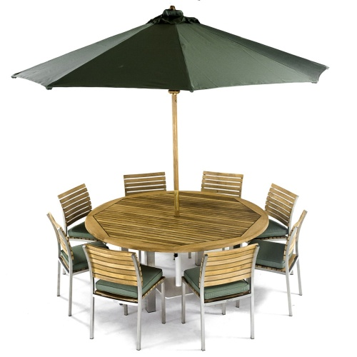 Vogue Teak Dining Set for 8 - Picture L