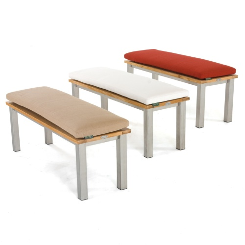 stainless steel teak bench