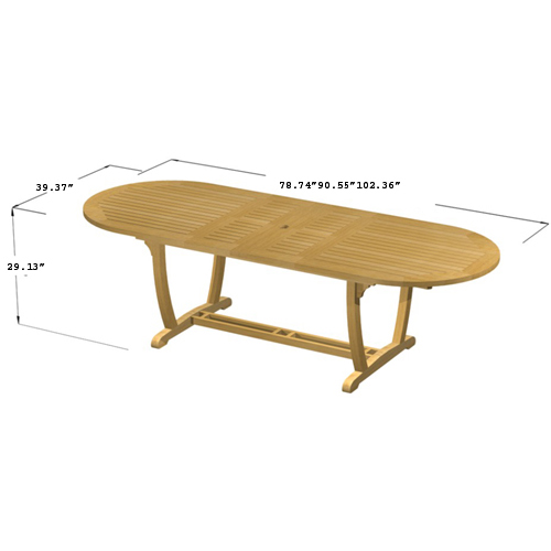 Teak Picnic Bench Set - Picture M