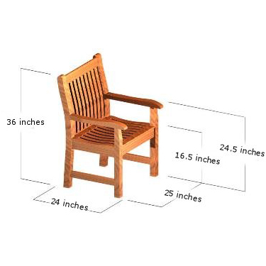 Teak Picnic Bench Set - Picture N