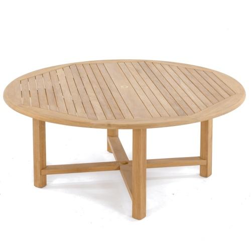 Lifetime 8ft Folding Table 70456 - Odyssey Buckingham 9 pc Set - Sunbrella, Teak & Stainless ...