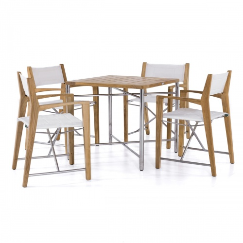 Odyssey Stainless Steel Folding Dining Set - Picture K