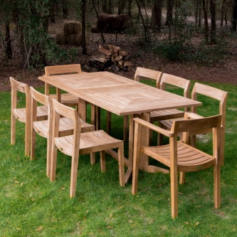 Pyramid Horizon 9 pc Teak Dining Set