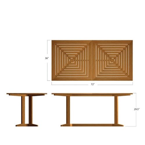 Surf Pyramid Teak Dining Set - Picture L