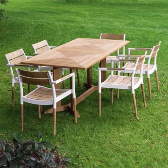 Pyramid Bloom Dining Set for 6