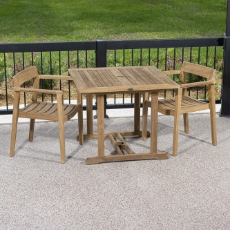 Horizon 3 pc Teak Dining Set