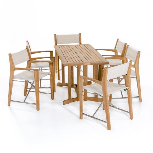 teak patio tables rectangular folding