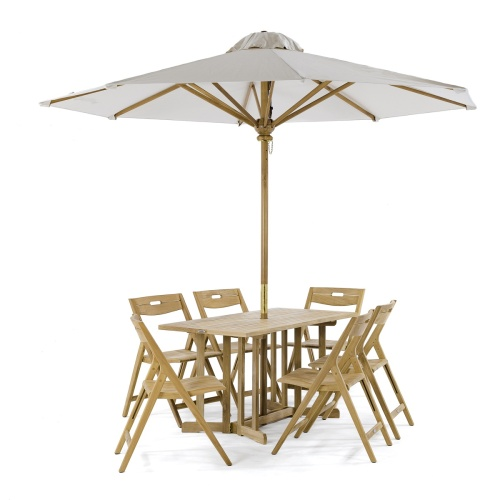 Surf 5pc Teak Folding Set - Picture L