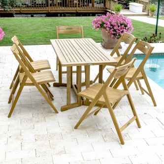 7 pc Surf Nevis Teak Dining Set