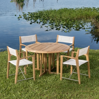 Odyssey Barbuda Folding Teak Set